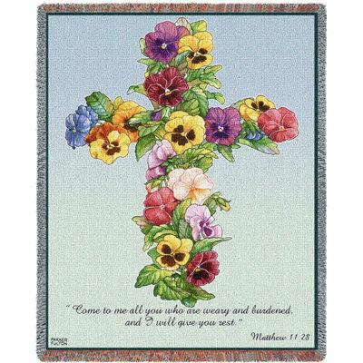 Pansy Cross Blanket