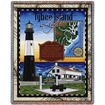 Tybee Island Lighthouse Blanket