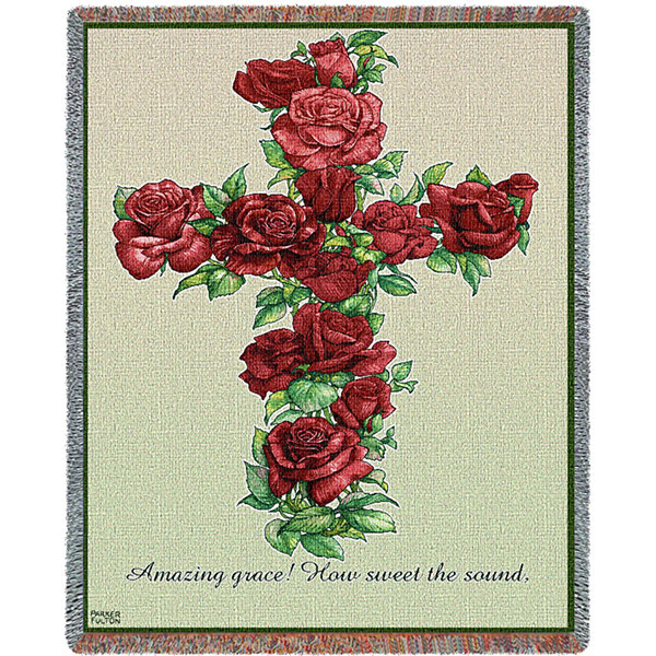 Red Rose Cross Blanket