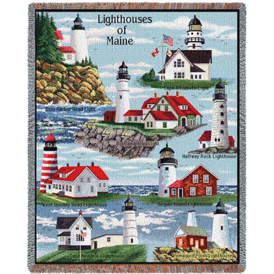 Lighthouses of Maine Blanket