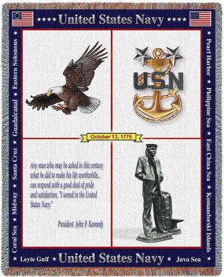US Naval Memorial Blanket