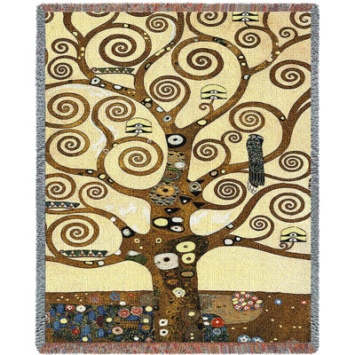 Stoclet Frieze Tree Of Life Blanket