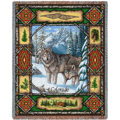 Colorado Wolf Lodge Blanket