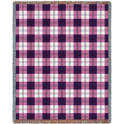Boysenberry Plaid Blanket