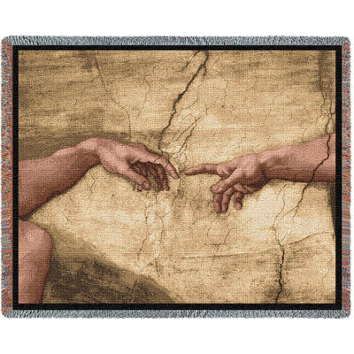 Creation Of Adam Without Words Blanket