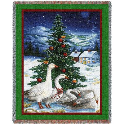 Christmas Goose Blanket