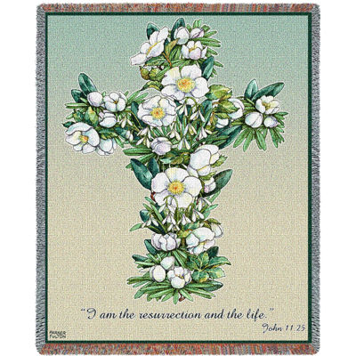 Gardenia Cross Blanket