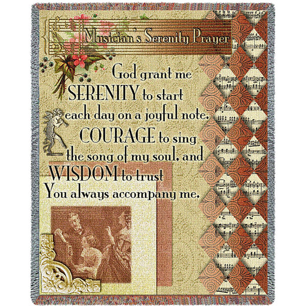 Musicians Serenity Prayer Blanket