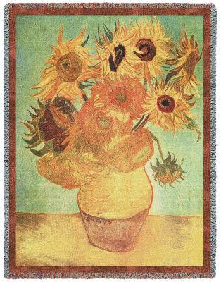 Van Gogh Sunflowers Tapestry Blanket
