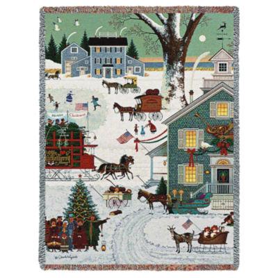 Cape Cod Christmas Blanket
