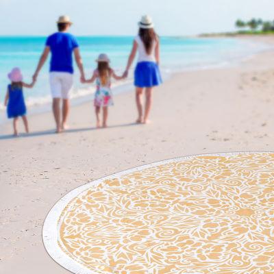 Tatiana Round Beach Towel