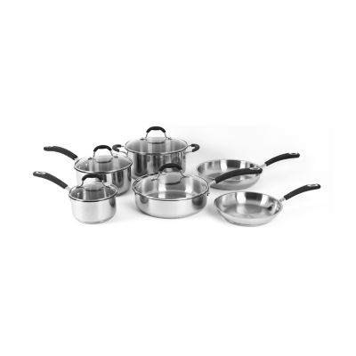 Oneida 10-pc. Stainless Steel Dishwasher Safe Cookware Set