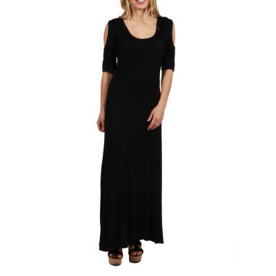 24/7 Comfort Apparel Meg Maxi Dress