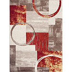 Contemporary Abstract Circle Area Rug