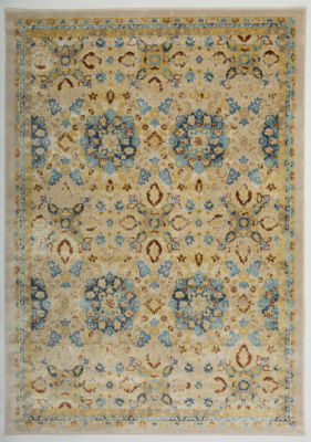 Transitional Floral Design High-Low Texture Area Rug