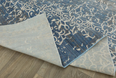 Contemporary Distressed Area Rug