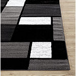 World Rug Gallery Contemporary Modern Boxes Rectangular, Round & Runner Rugs