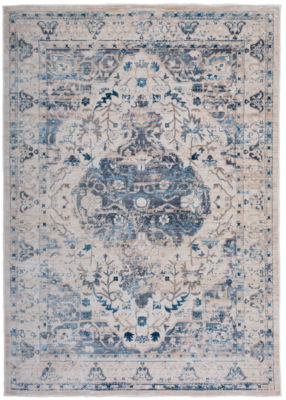 Traditional Oriental Distressed Floral Area Rug