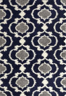 Cozy Moroccan Trellis Shag Area Rug