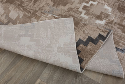 Distressed Contemporary Design High-Low Texture Area Rug