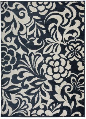 Modern Large Floral Design Area Rug