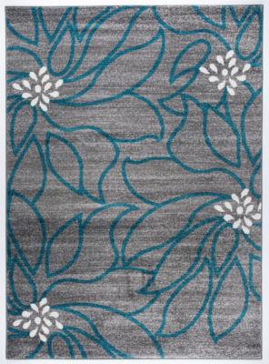 Modern Large Floral Soft Area Rug