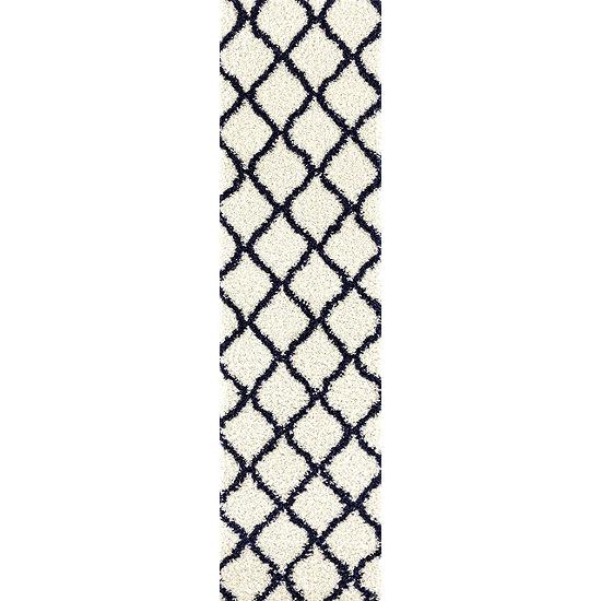 Moroccan Geometric Shag Area Rug