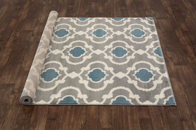 Moroccan Trellis Contemporary Area Rug