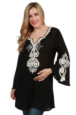 24/7 Comfort Apparel Payton Maternity Tunic Top