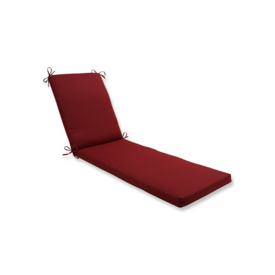 Pillow Perfect Outdoor / Indoor Pompeii Red ChaiseLounge Cushion 80x23x3