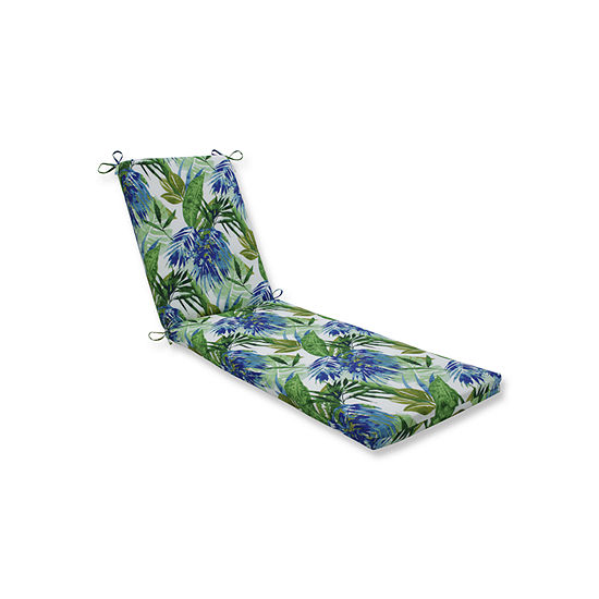 Pillow Perfect Outdoor / Indoor Soleil Blue/GreenChaise Lounge Cushion 80x23x3