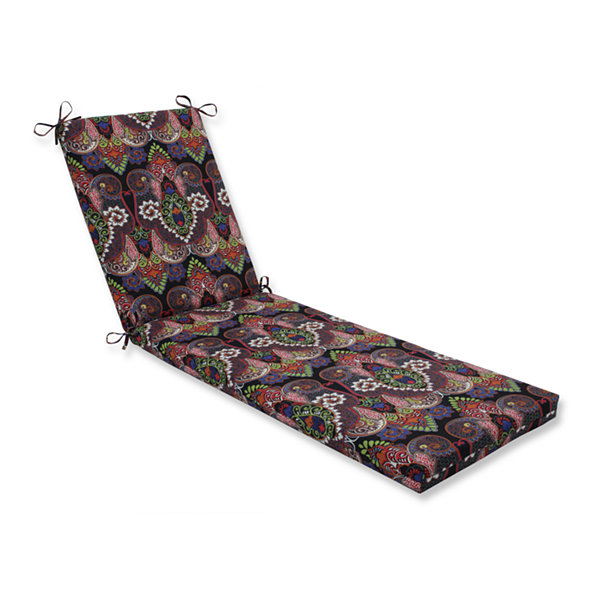 Pillow Perfect Outdoor / Indoor Marapi Rainbow Chaise Lounge Cushion 80x23x3