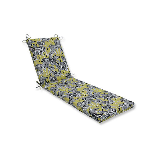Pillow Perfect Outdoor Indoor Herd Together Wasabi Chaise Lounge Cushion 80x23x3