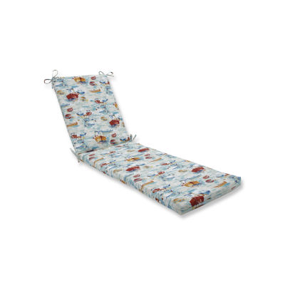 Pillow Perfect Outdoor / Indoor Spinnaker Bay Sailor Chaise Lounge Cushion 80x23x3