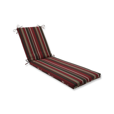 Pillow Perfect Outdoor / Indoor Monserrat / Montifleuri Sangria Red Chaise Lounge Cushion 80x23x3