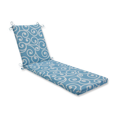 Pillow Perfect Outdoor / Indoor Best Turquoise Chaise Lounge Cushion 80x23x3