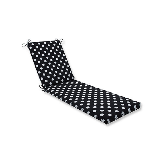 Pillow Perfect Outdoor Indoor Polka Dot Chaise Lounge Cushion 80x23x3