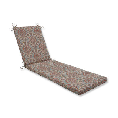 Pillow Perfect Outdoor / Indoor Crescent Beach Cayanne Chaise Lounge Cushion 80x23x3