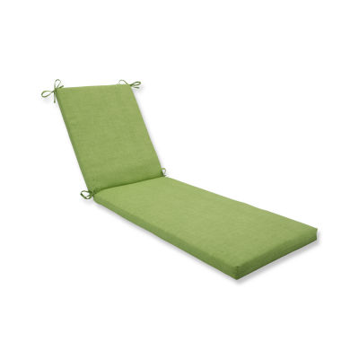 Pillow Perfect Outdoor / Indoor Baja Linen Lime Chaise Lounge Cushion 80x23x3