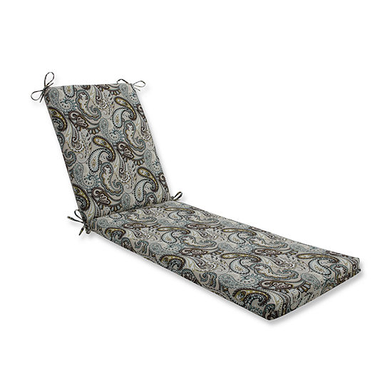 Pillow Perfect Outdoor / Indoor Tamara Paisley Quartz Chaise Lounge Cushion 80x23x3