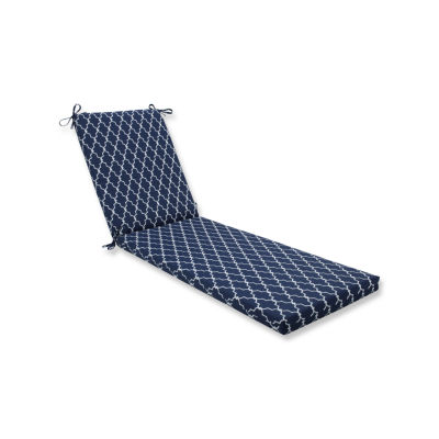 Pillow Perfect Outdoor / Indoor Garden Gate Navy Chaise Lounge Cushion 80x23x3