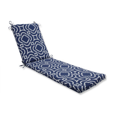 Pillow Perfect Outdoor / Indoor Carmody Navy Chaise Lounge Cushion 80x23x3