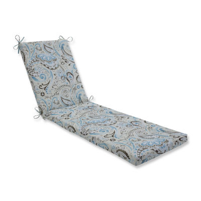 Pillow Perfect Outdoor / Indoor Vermilya Tidepool Chaise Lounge Cushion 80x23x3