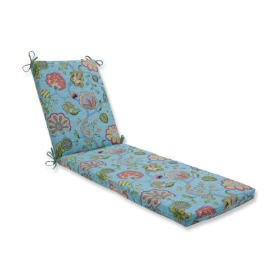 Pillow Perfect Outdoor / Indoor Arabella CaribbeanBlue Chaise Lounge Cushion 80x23x3