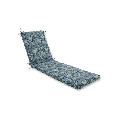 Pillow Perfect Outdoor / Indoor Pretty Paisley Navy Chaise Lounge Cushion 80x23x3