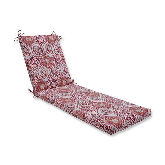 Pillow Perfect Outdoor / Indoor Summer Breeze Chaise Lounge Cushion 80x23x3