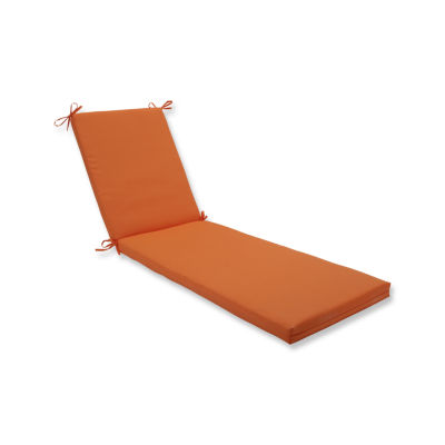 Pillow Perfect Outdoor / Indoor Sundeck Orange Chaise Lounge Cushion 80x23x3