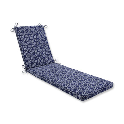 Pillow Perfect Outdoor / Indoor Ring a Bell Navy Chaise Lounge Cushion 80x23x3