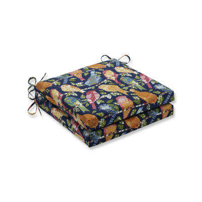 Pillow Perfect Outdoor / Indoor Ash Hill Multi Squared Corners Seat Cushion 20x20x3 (Set of 2)
