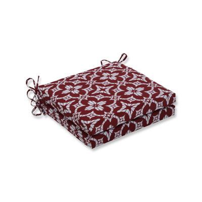 Pillow Perfect Outdoor / Indoor Squared Corners Seat Cushion 20x20x3 (Set of 2)